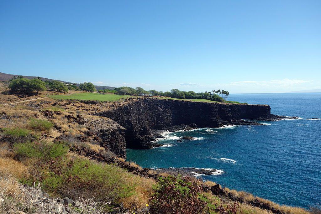 17th Hole at Manele Golf Course (444 Yard Par 4)