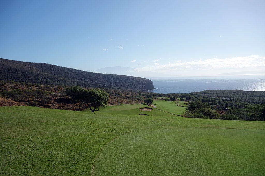 5th Hole at Manele Golf Course (462 Yard Par 4)