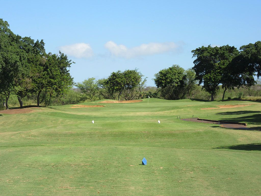 12th Hole at Maui Nui Golf Course (221 Yard Par 3)