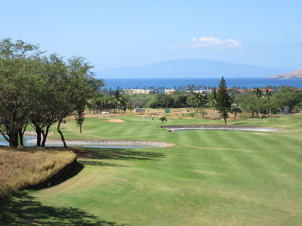 15th Hole at Maui Nui Golf Course (374 Yard Par 4)