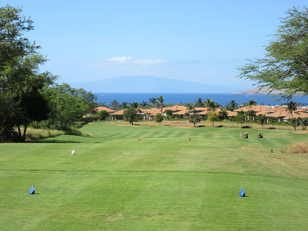 18th Hole at Maui Nui Golf Course (563 Yard Par 5)