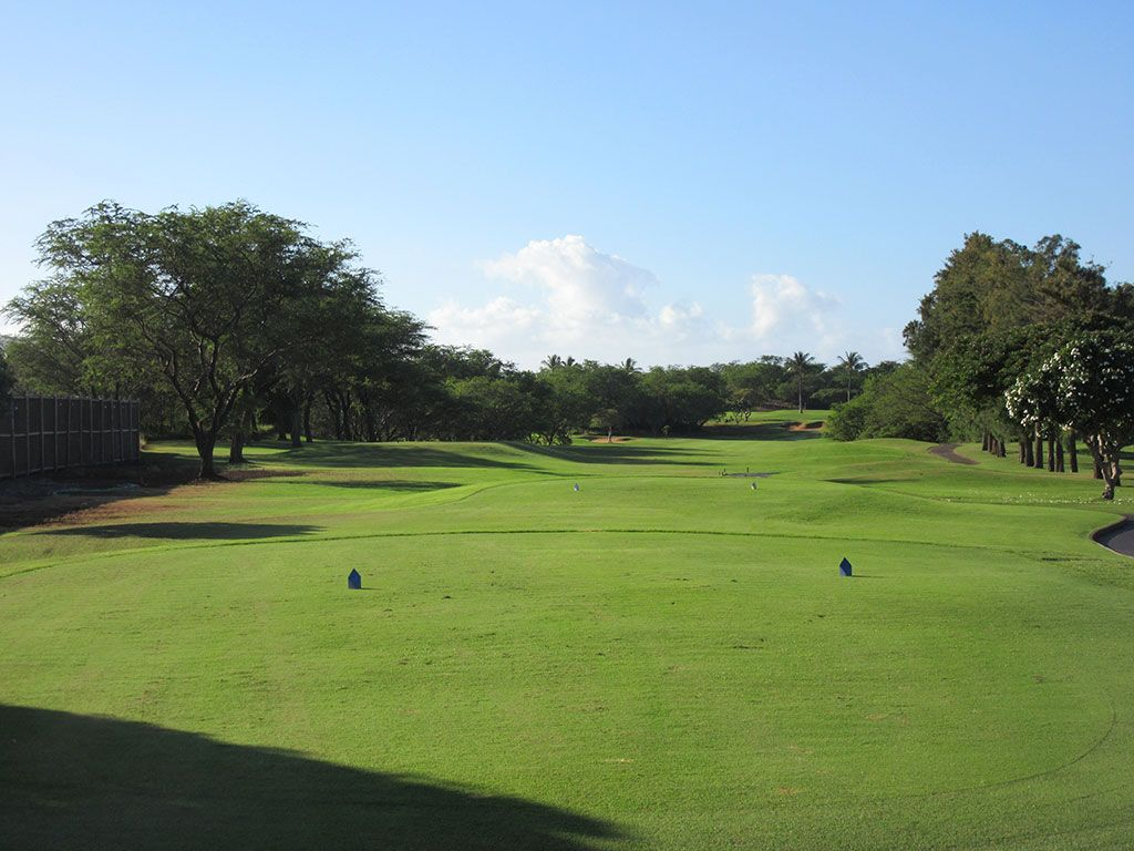 2nd Hole at Maui Nui Golf Course (576 Yard Par 5)