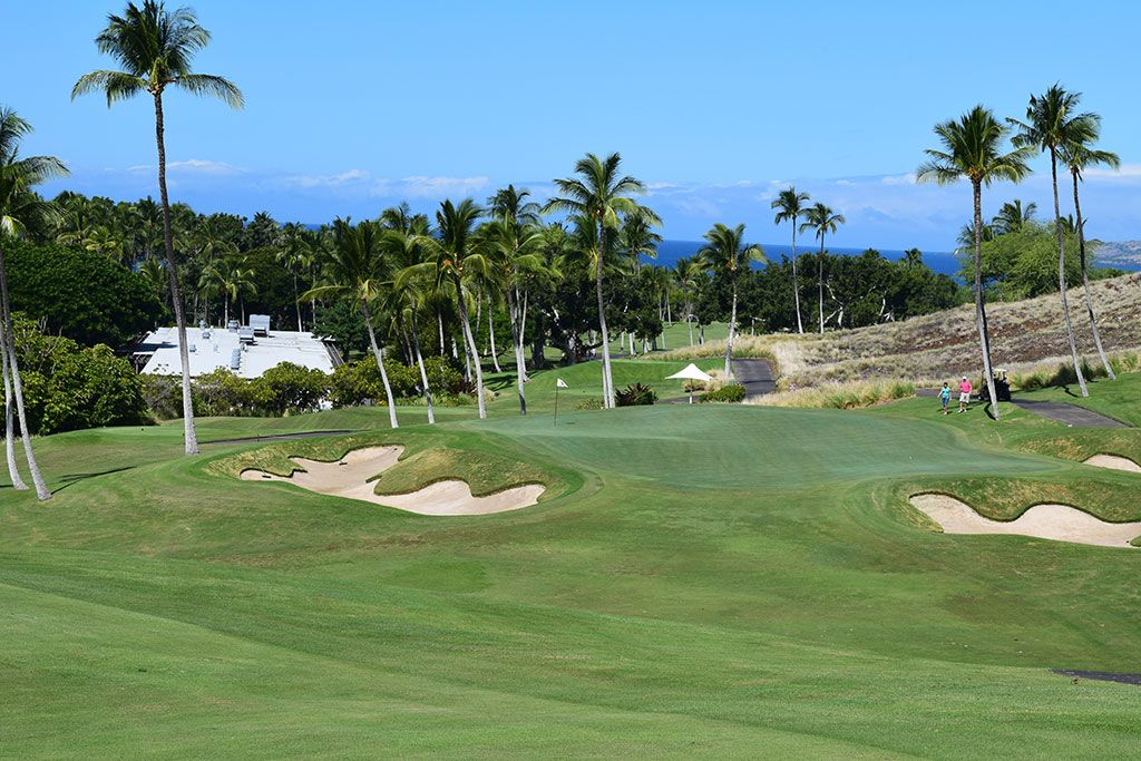 18th Hole at Mauna Kea Resort (450 Yard Par 4)