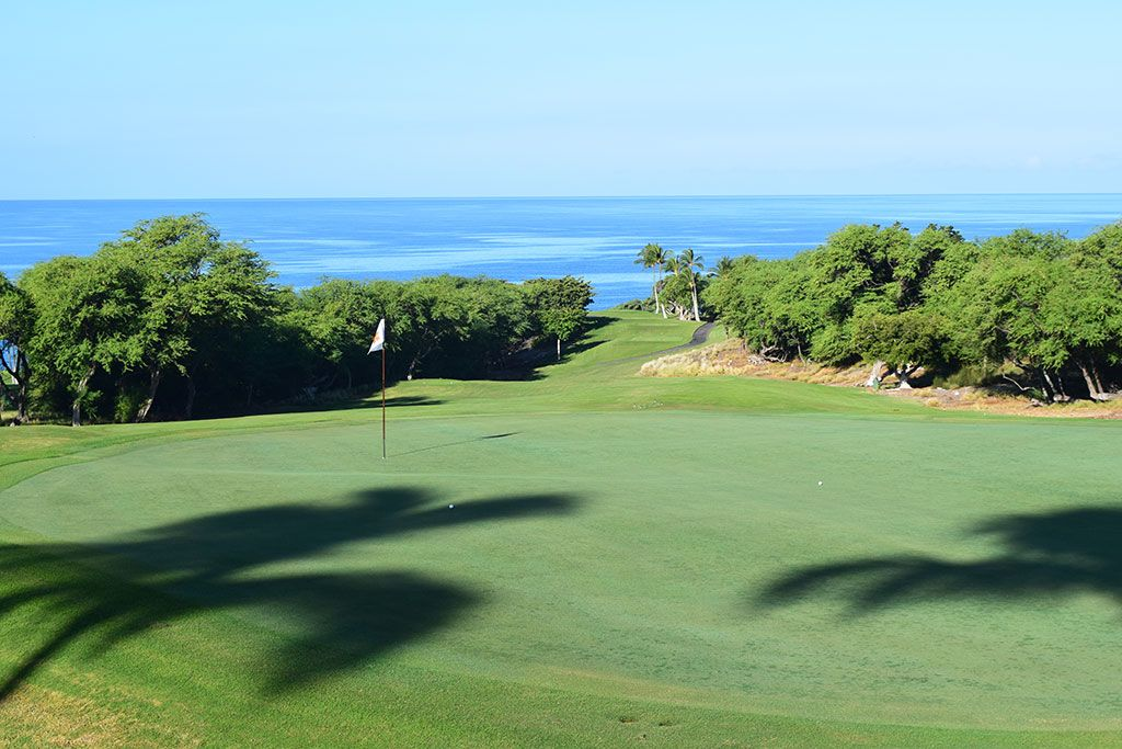 4th Hole at Mauna Kea Resort (438 Yard Par 4)