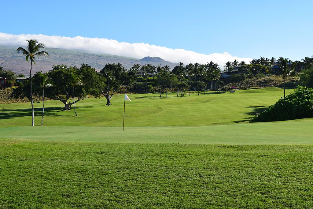 6th Hole at Mauna Kea Resort (338 Yard Par 4)