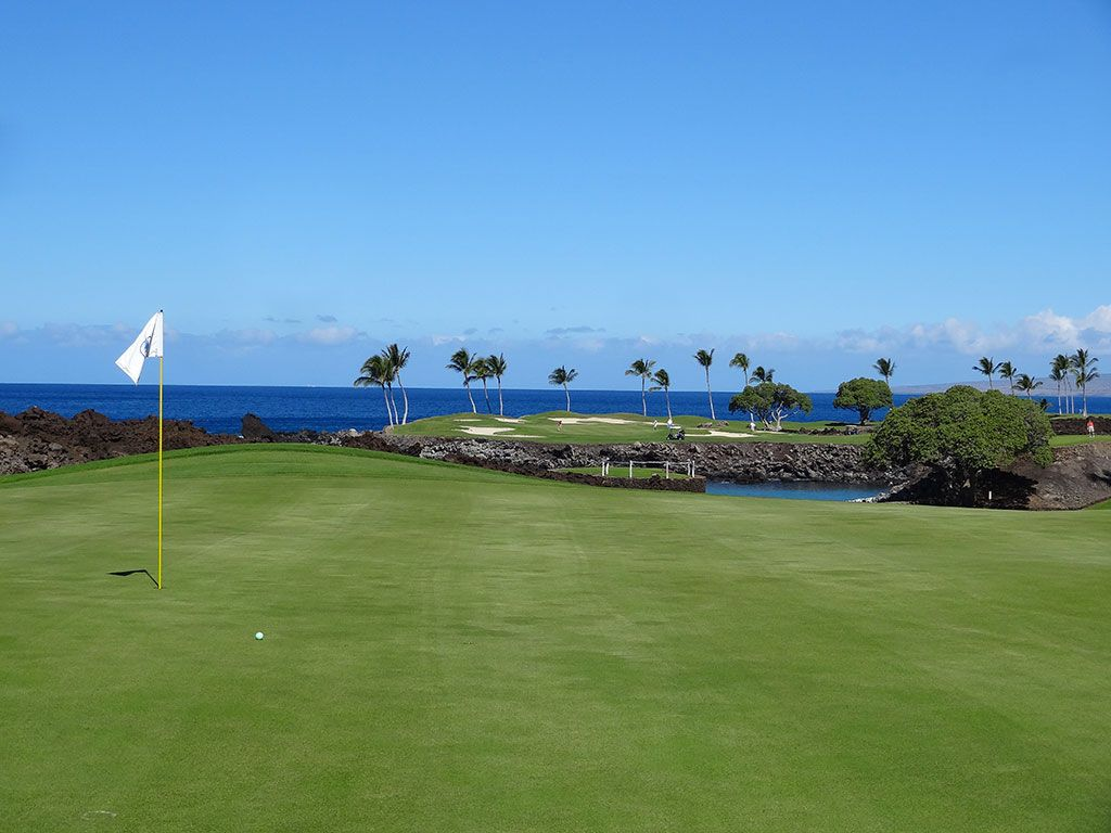 13th Hole at Mauna Lani Resort (South) (380 Yard Par 4)