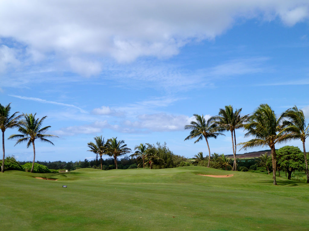 15th Hole at Poipu Bay Golf Club (427 Yard Par 4)