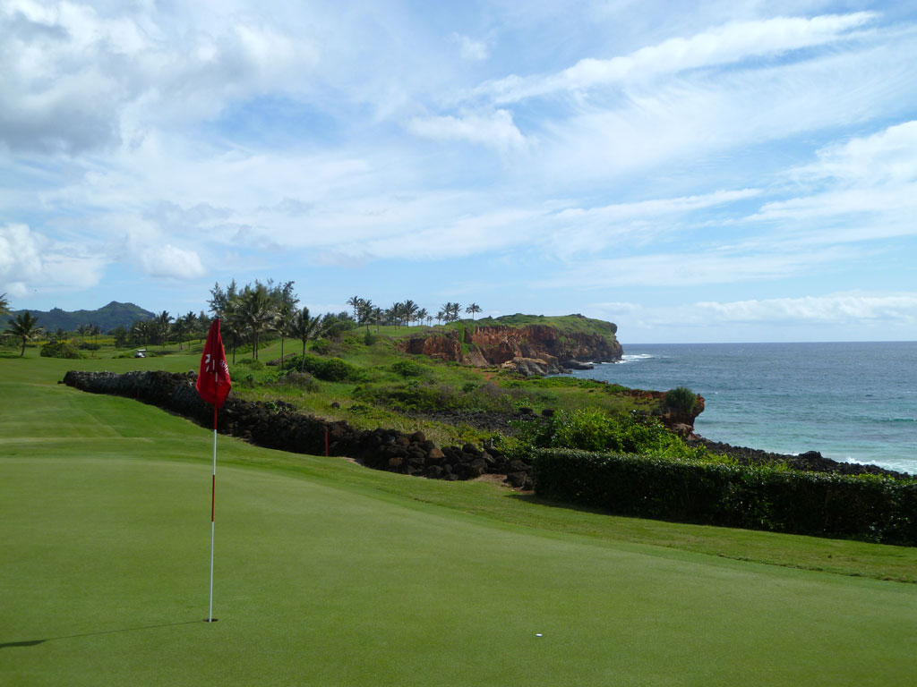 16th Hole at Poipu Bay (501 Yard Par 4)