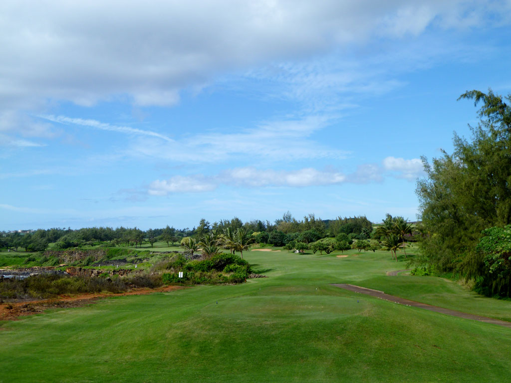 16th Hole at Poipu Bay Golf Club (501 Yard Par 4)