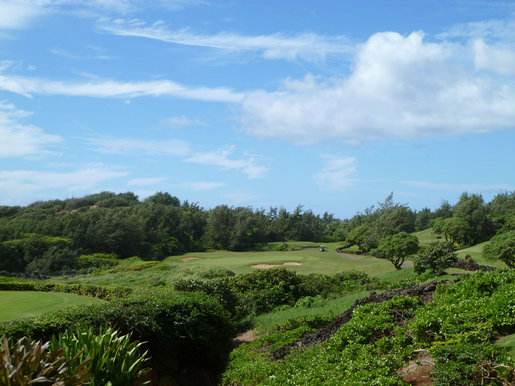 17th Hole at Poipu Bay Golf Club (225 Yard Par 3)