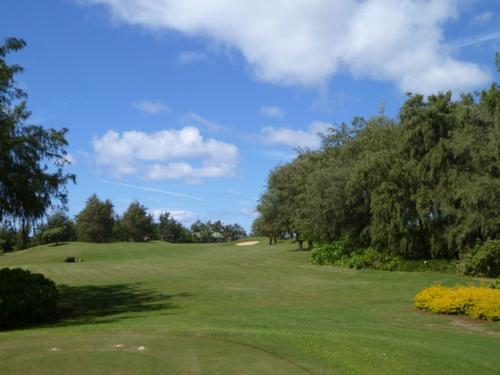 18th Hole at Poipu Bay Golf Club (550 Yard Par 5)