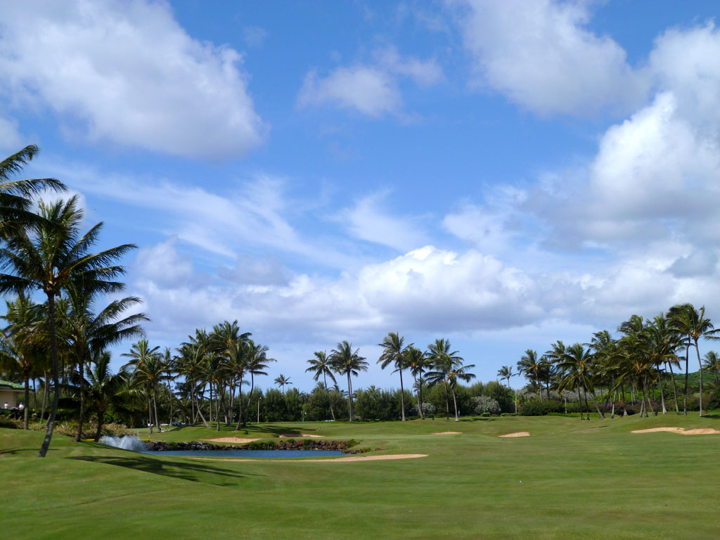 18th Hole at Poipu Bay (550 Yard Par 5)