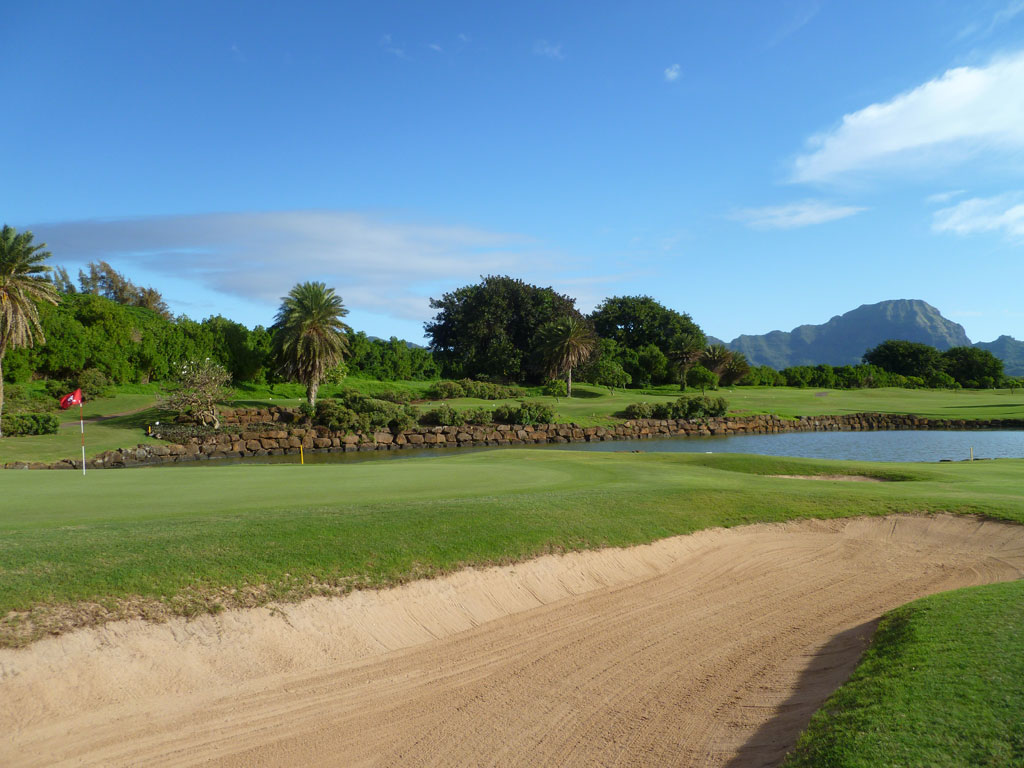 7th Hole at Poipu Bay Golf Club (179 Yard Par 3)