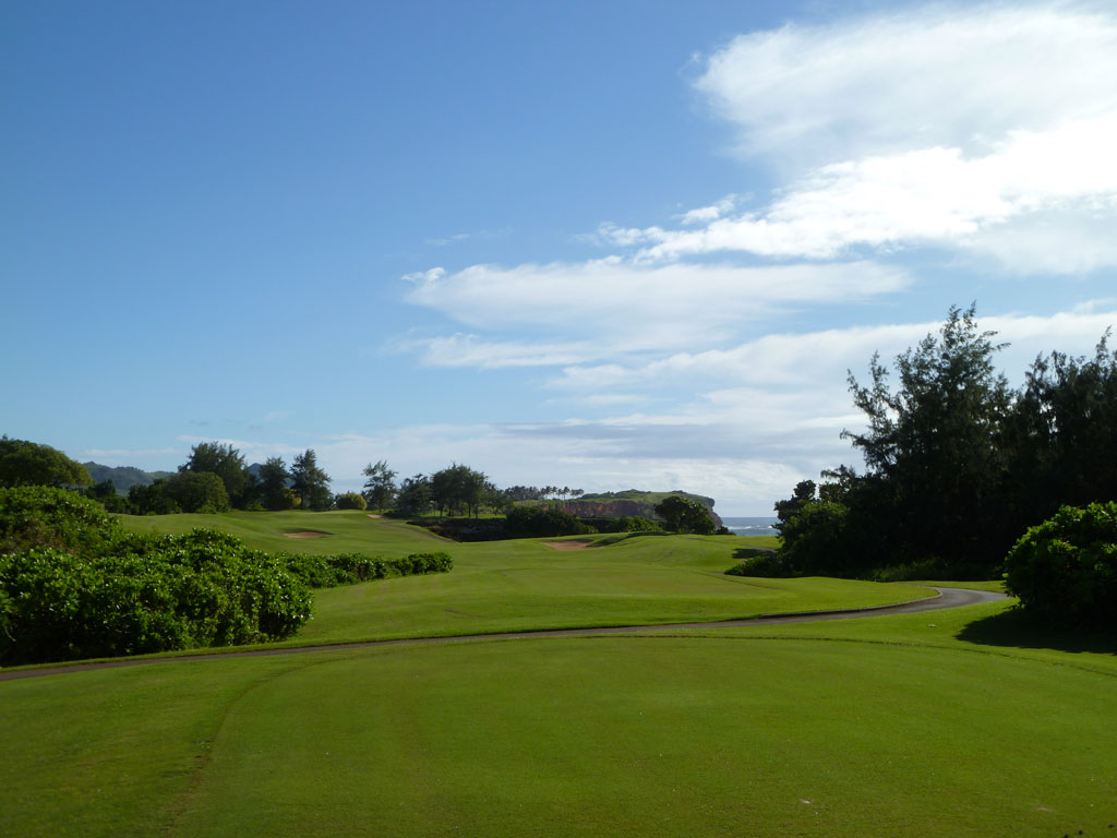 9th Hole at Poipu Bay (420 Yard Par 4)