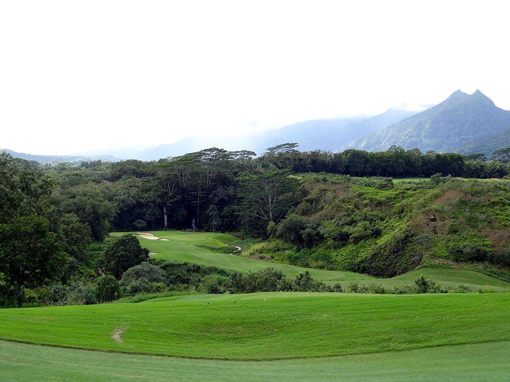 13th Hole at Princeville (Prince) Golf Course (432 Yard Par 4)