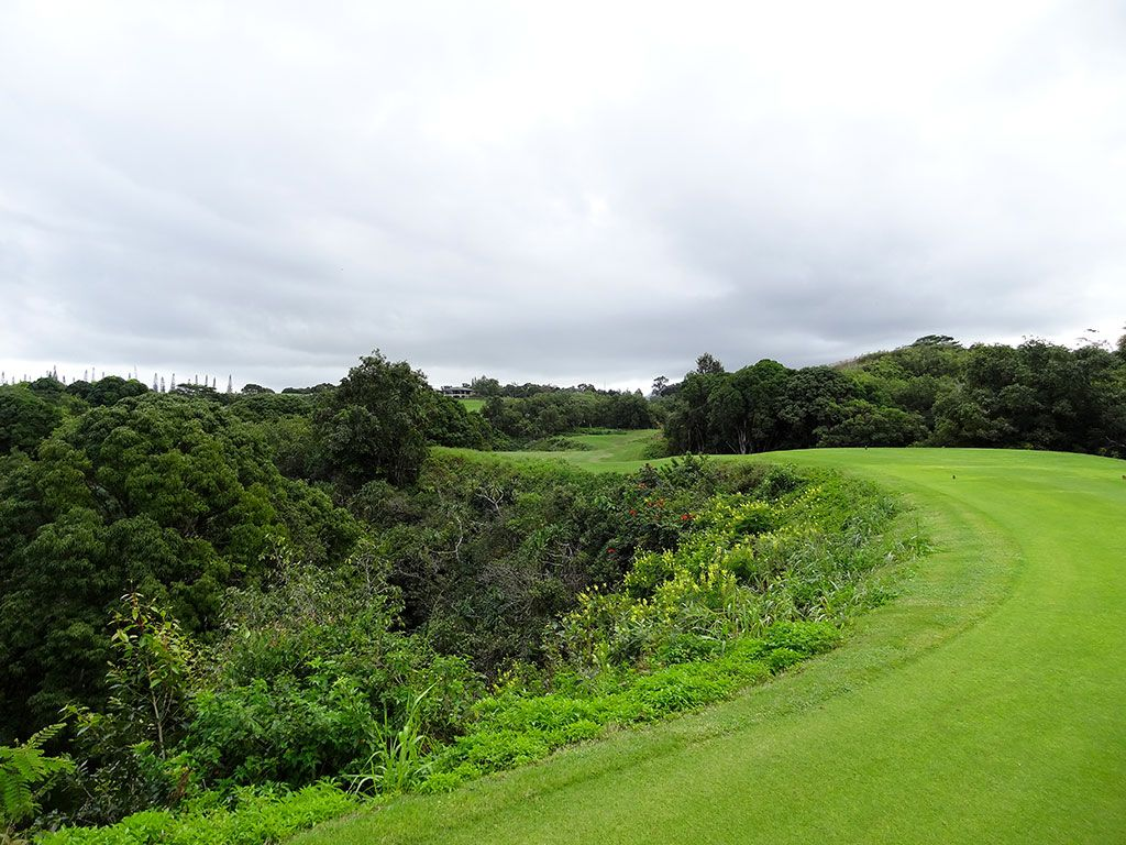 13th Hole at Princeville (Prince) Golf Club (432 Yard Par 4)