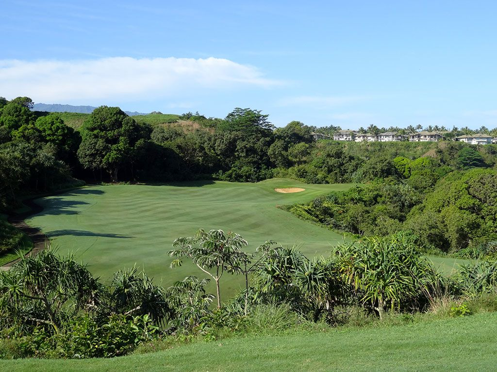 15th Hole at Princeville (Prince) Golf Course (576 Yard Par 5)