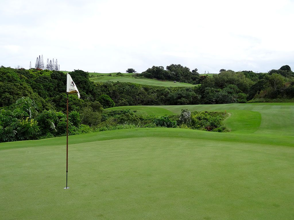 15th Hole at Princeville (Prince) Golf Club (576 Yard Par 5)