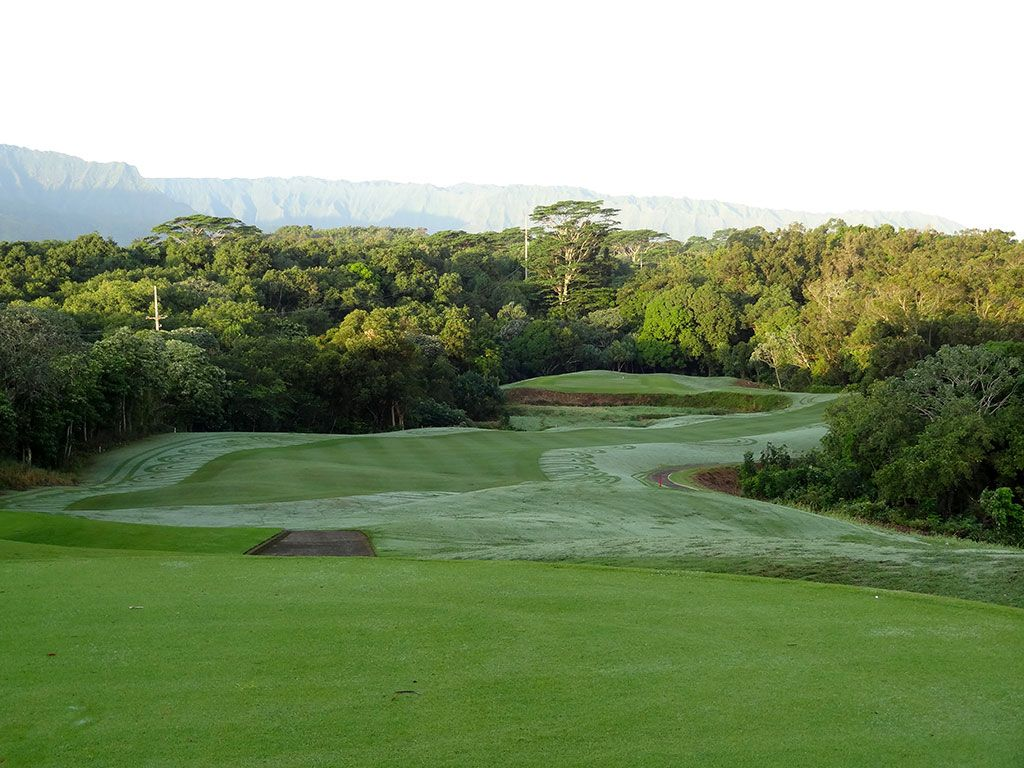 1st Hole at Princeville (Prince) Golf Club (448 Yard Par 4)