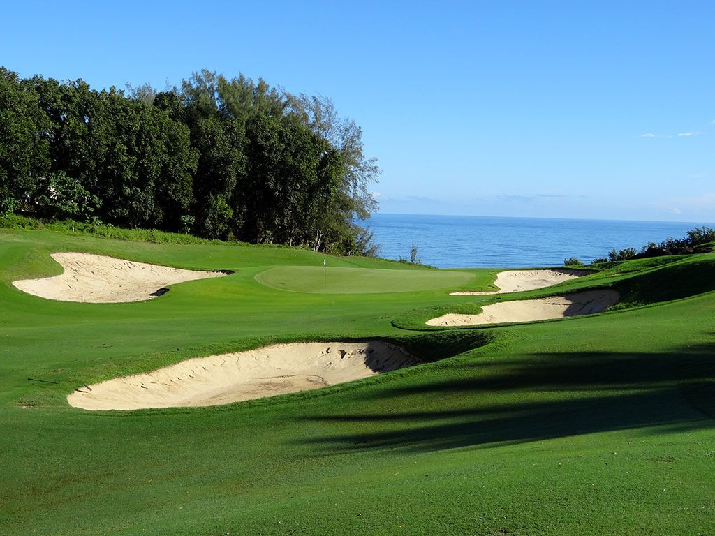 6th Hole at Princeville (Prince) Golf Club (428 Yard Par 4)