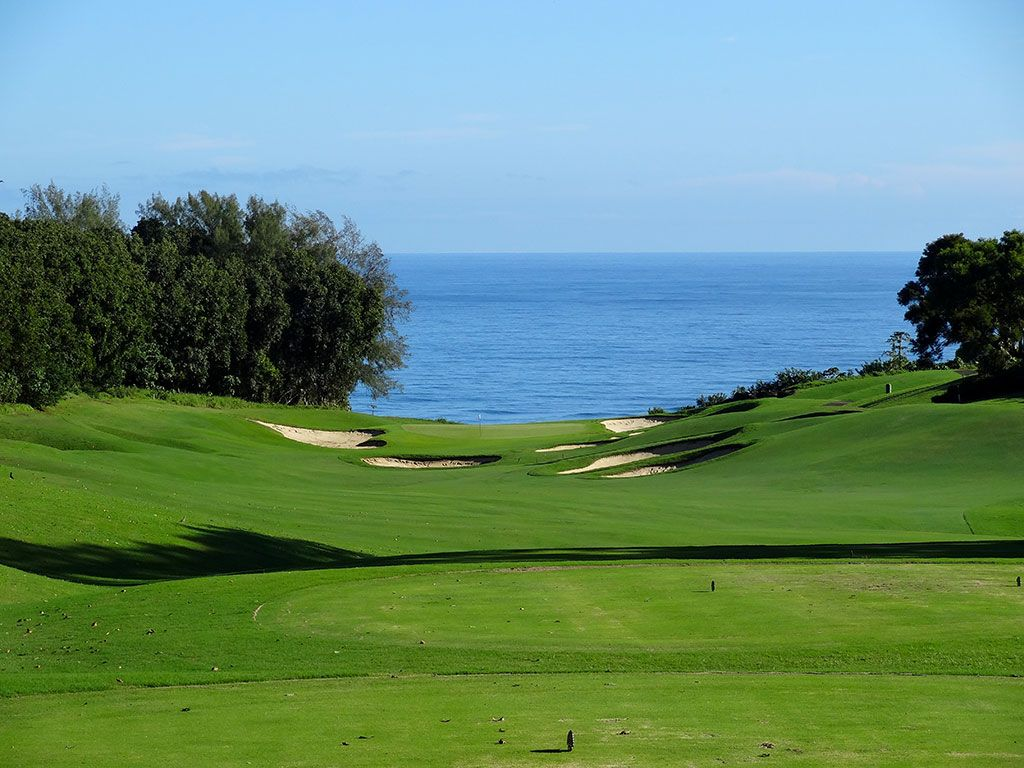 6th Hole at Princeville (Prince) Golf Course (428 Yard Par 4)