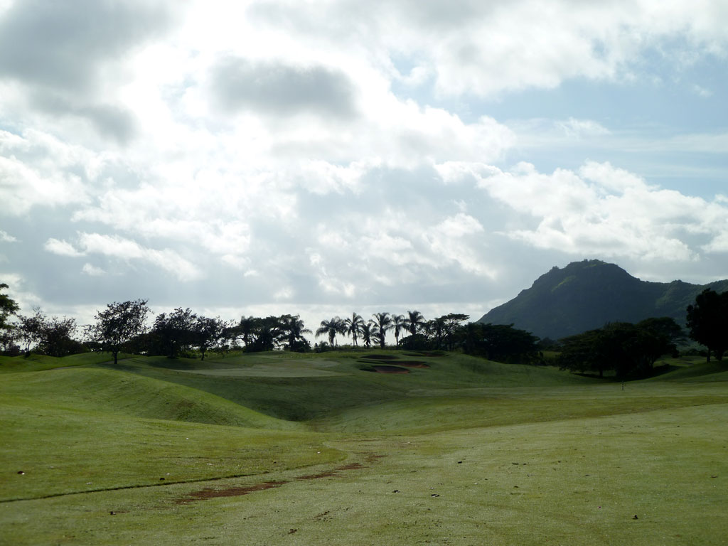11th Hole at Puakea Golf Course Hole at Puakea (560 Yard Par 5)