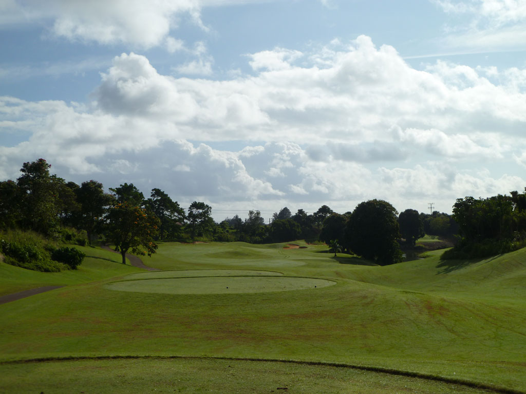 12th Hole at Puakea Golf Course Hole at Puakea (397 Yard Par 4)