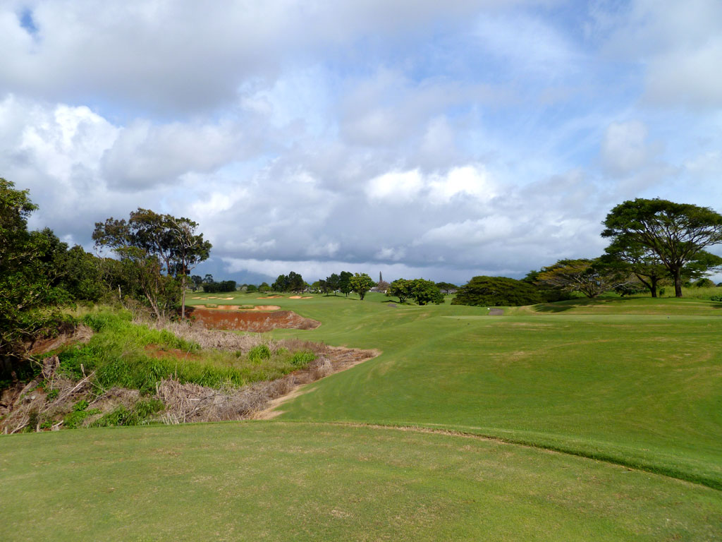 15th Hole at Puakea Golf Course Hole at Puakea (446 Yard Par 4)