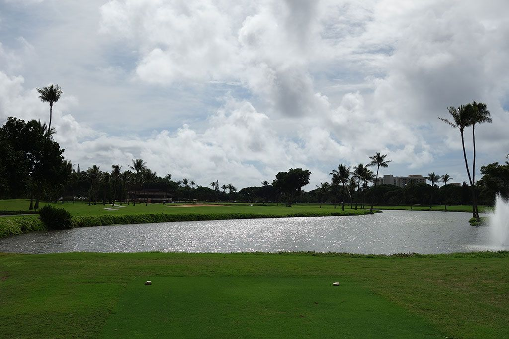 18th Hole at Royal Ka'anapali Golf Course (440 Yard Par 4)