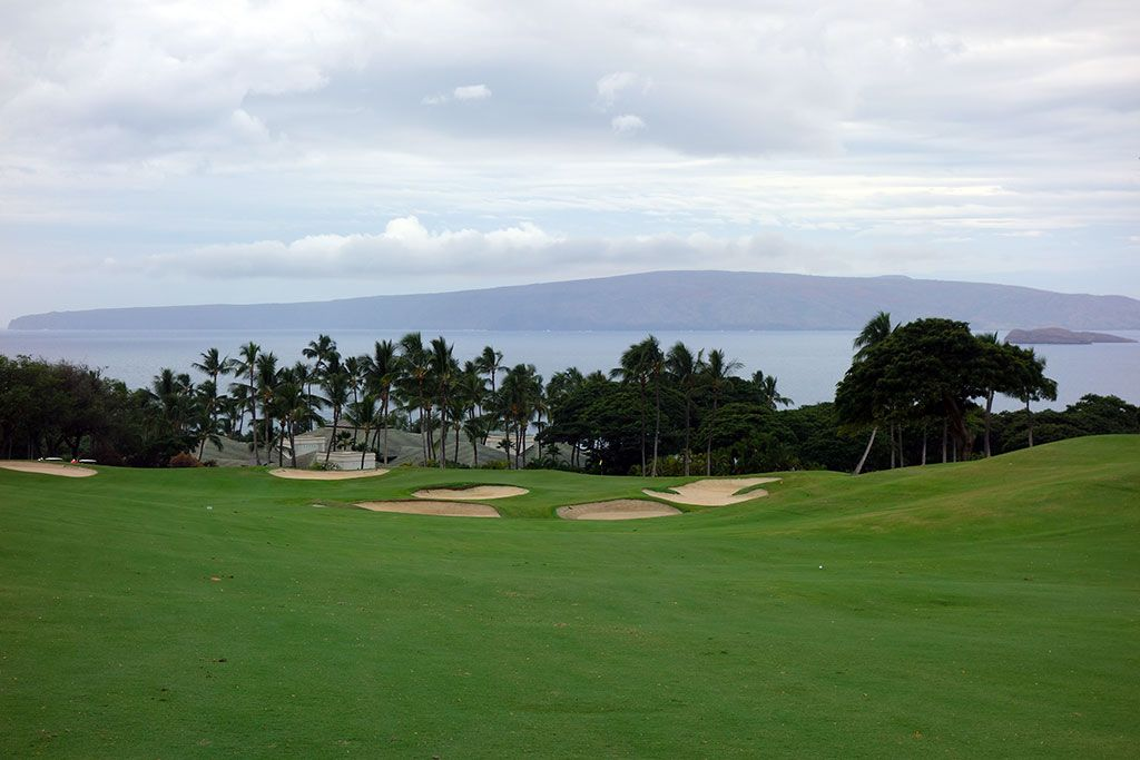 18th Hole at Wailea Resort (Emerald) (553 Yard Par 5)