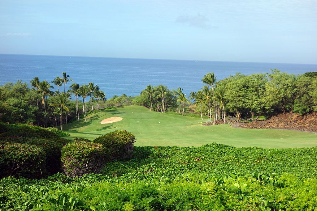 1st Hole at Wailea Resort (Emerald) (380 Yard Par 4)