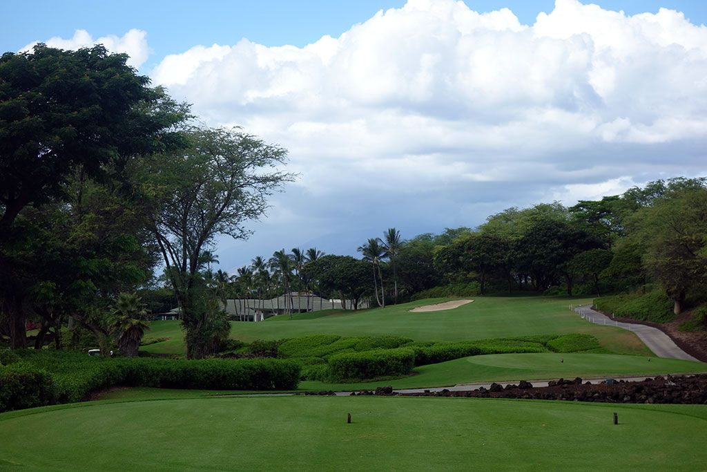 18th Hole at Wailea Resort (Gold) (438 Yard Par 4)