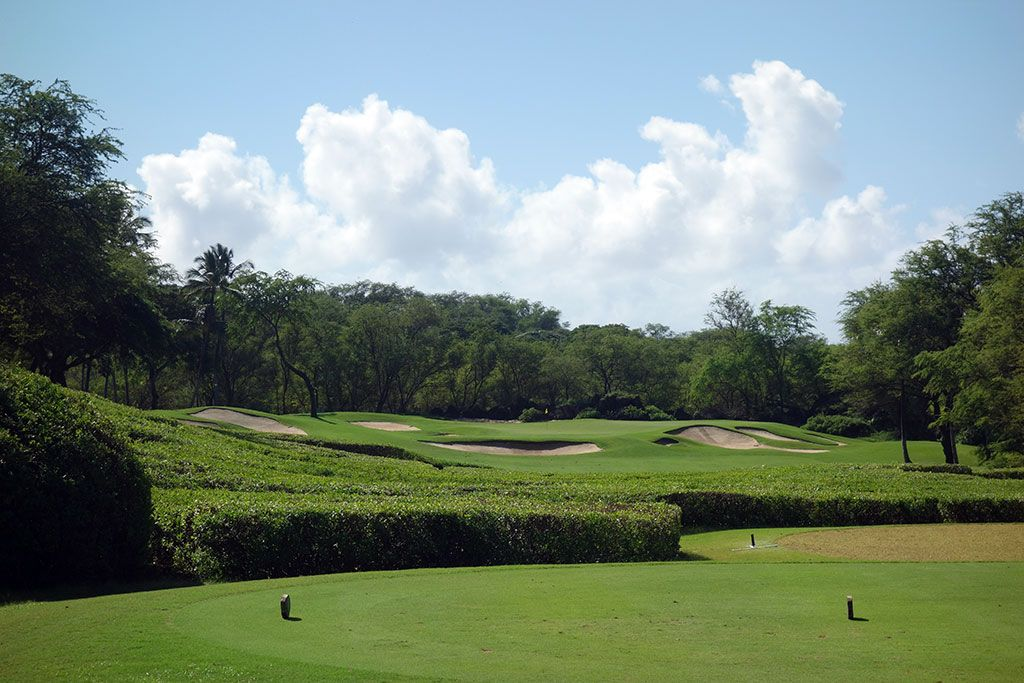 6th Hole at Wailea Resort (Gold) (287 Yard Par 4)