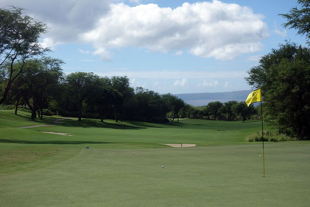7th Hole at Wailea Resort (Gold) (590 Yard Par 5)