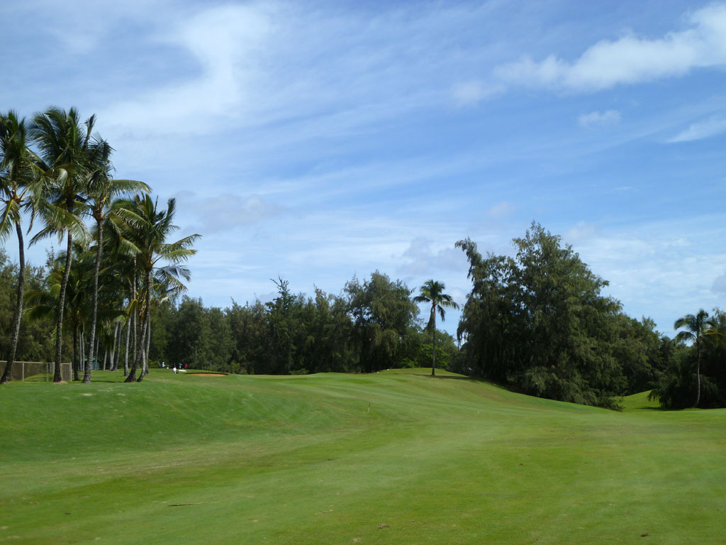 16th Hole at Wailua (363 Yard Par 4)