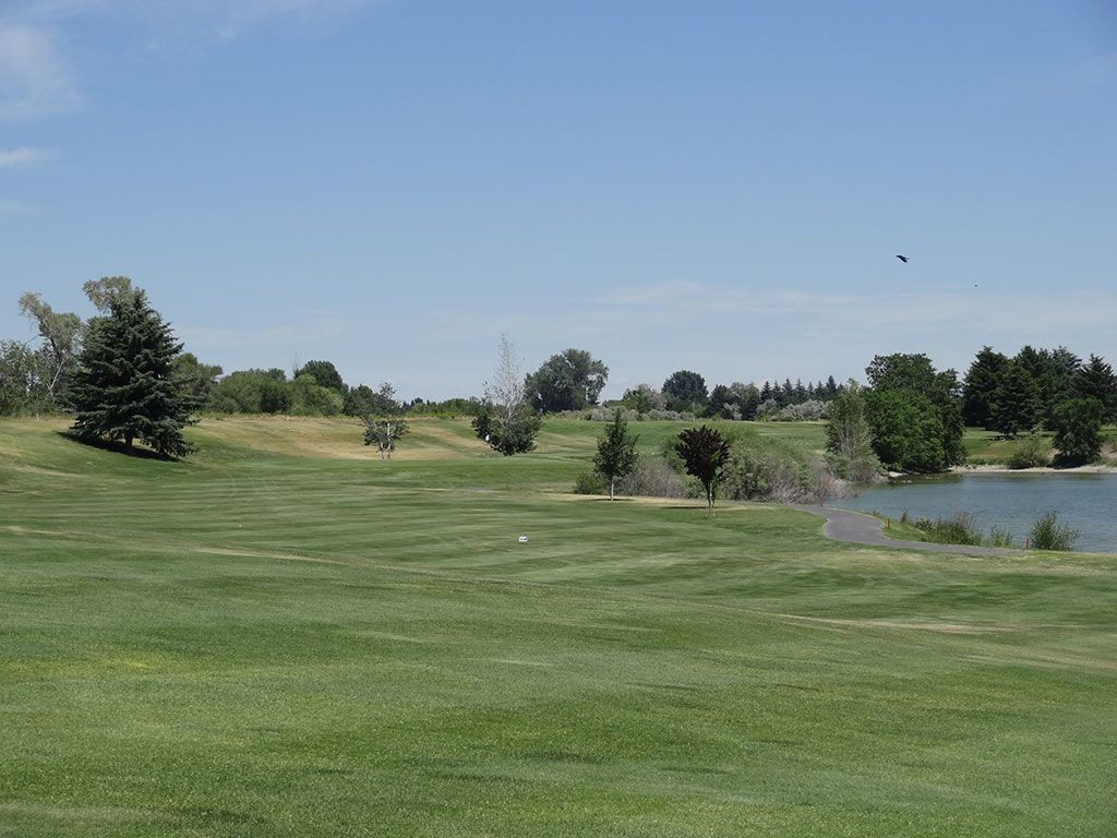 11th Hole at Blackfoot Golf Course (398 Yard Par 4)