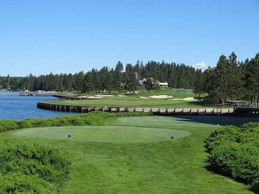 13th Hole at Coeur d'Alene Resort (336 Yard Par 4)