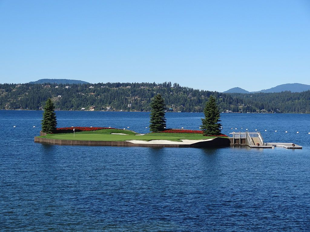 14th Hole at Coeur d'Alene Resort (203 Yard Par 3)