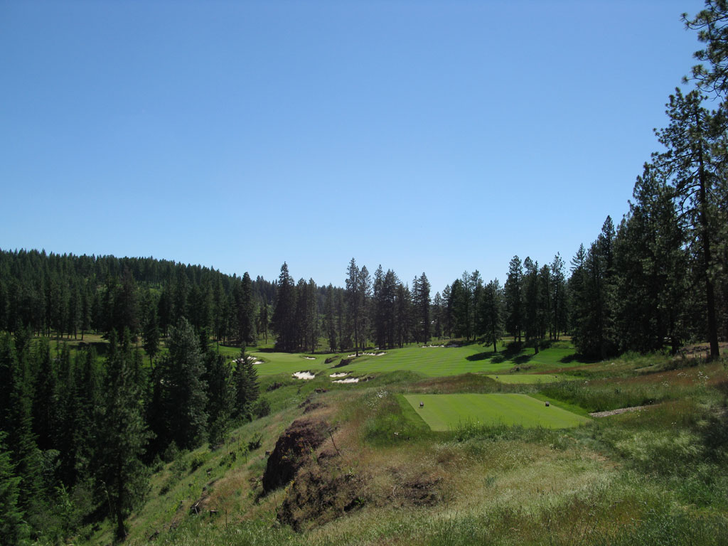12th Hole at Gozzer Ranch Golf and Lake Club (364 Yard Par 4)