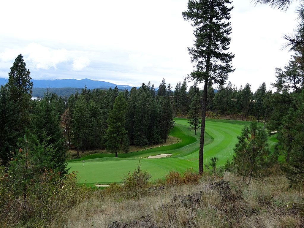 9th Hole at Gozzer Ranch Golf and Lake Club (461 Yard Par 4)