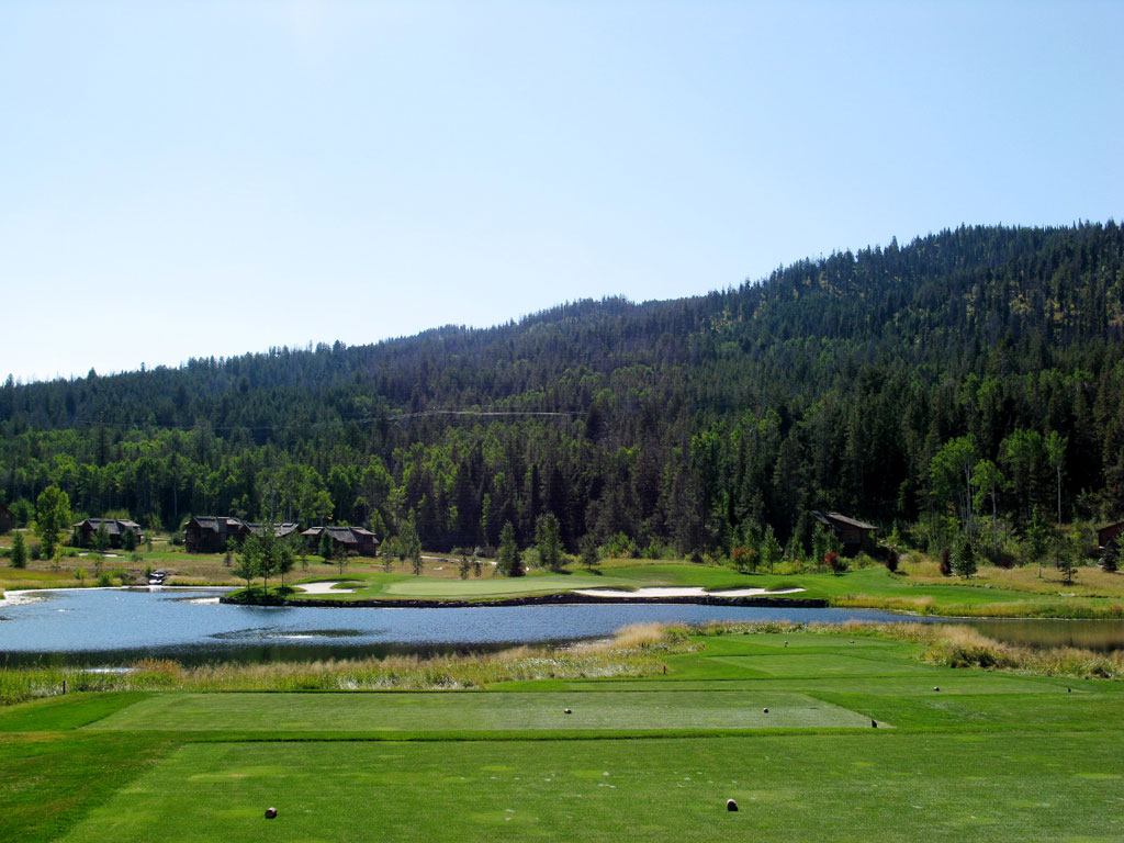 10th Hole at Headwaters at Teton Springs (169 Yard Par 3)