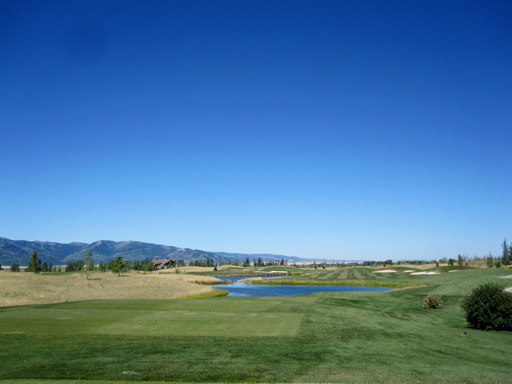 15th Hole at Headwaters at Teton Springs (301 Yard Par 4)