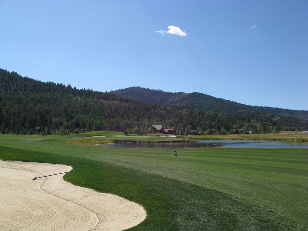 18th Hole at Headwaters at Teton Springs (488 Yard Par 4)
