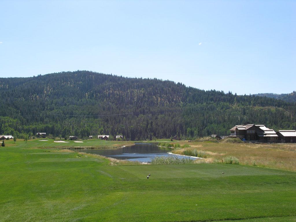 18th Hole at Headwaters at Teton Springs (488 Yard Par 4)