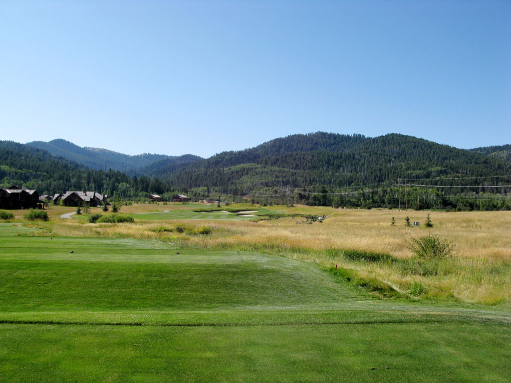 7th Hole at Headwaters at Teton Springs (246 Yard Par 3)
