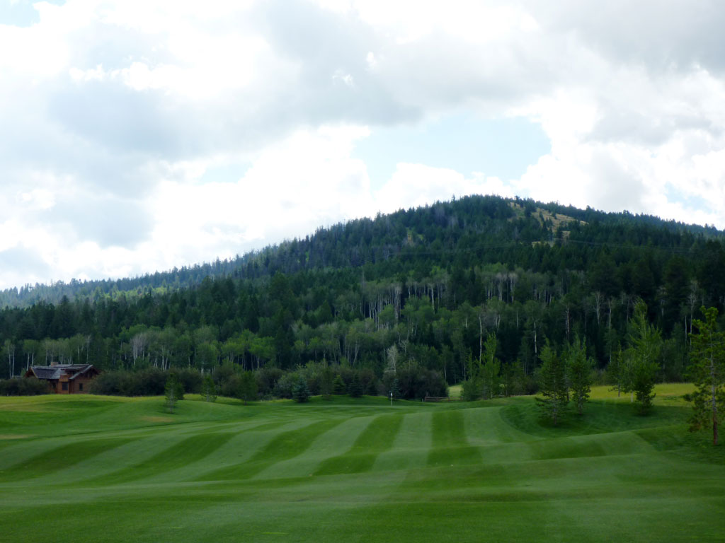 8th Hole at Headwaters at Teton Springs (517 Yard Par 4)