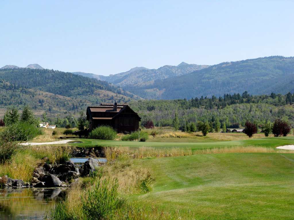 9th Hole at Headwaters at Teton Springs (544 Yard Par 5)