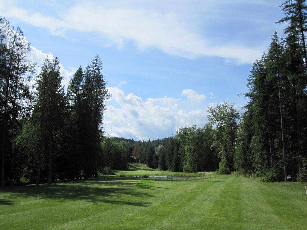 3rd Hole at Idaho Club (450 Yard Par 4)