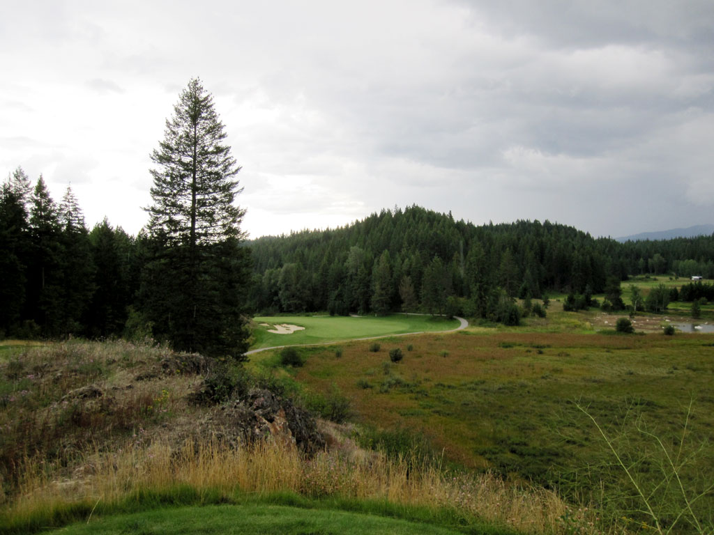 9th Hole at Idaho Club (558 Yard Par 5)