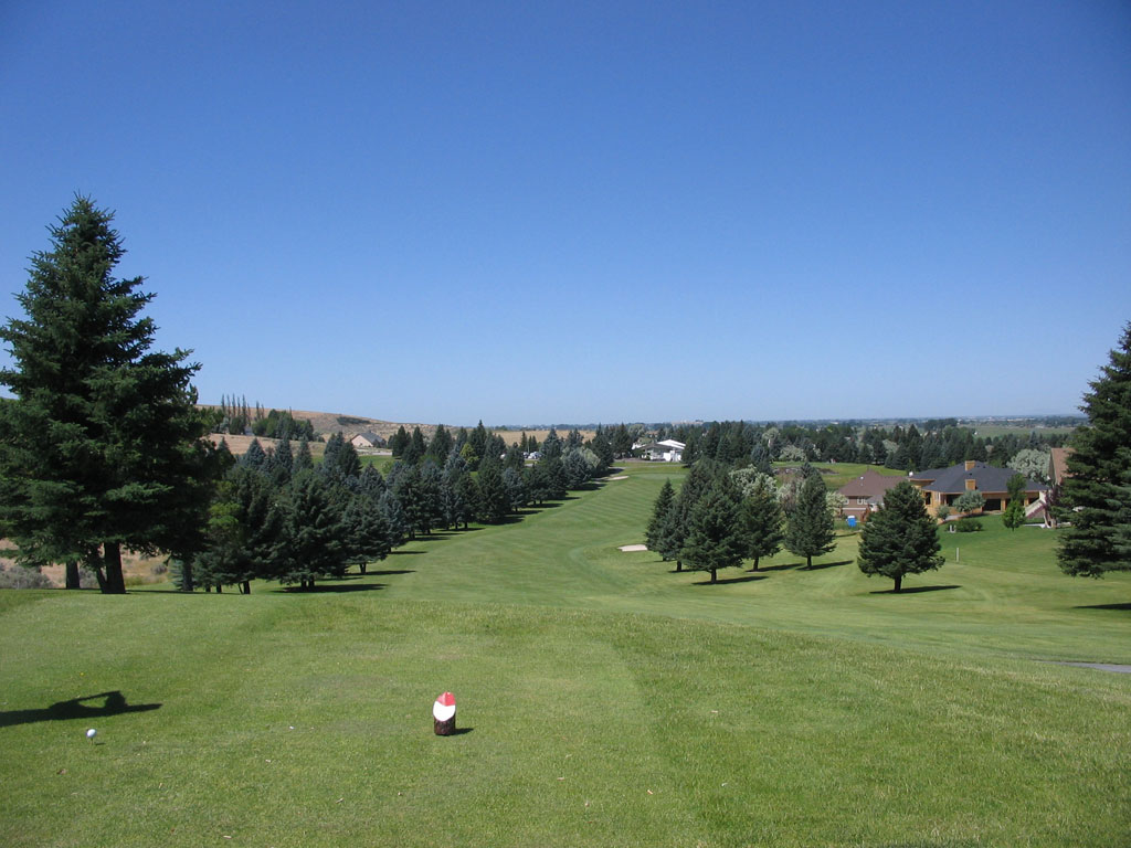 18th Hole at Idaho Falls Country Club (494 Yard Par 5)